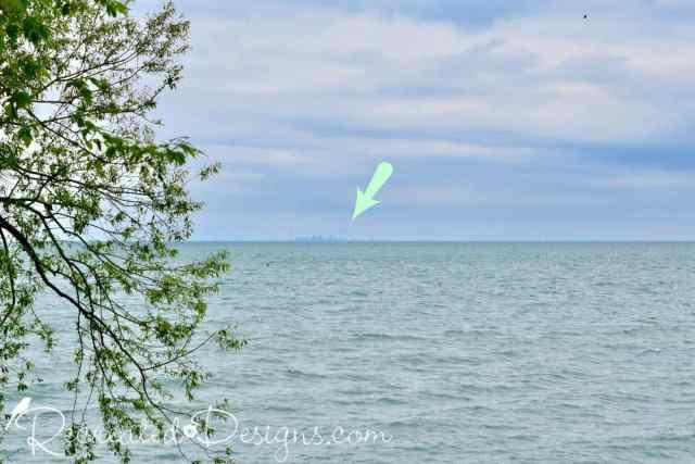 Toronto skyline across Lake Ontario from Niagara-on-the-Lake