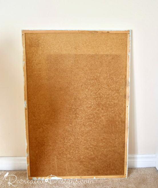 salvaged cork board