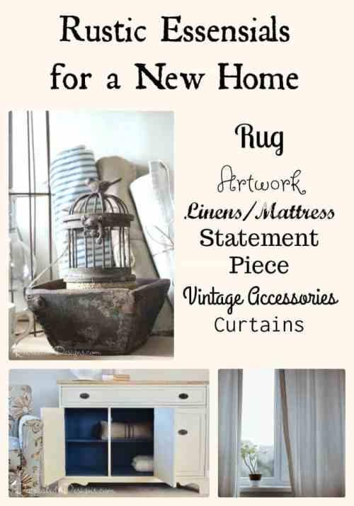 Rustic essentials for a new home