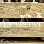stenciled pallet wood