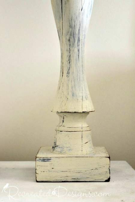 lamp base painted with Fusion Mineral Paint in Midnight Sky and Plaster
