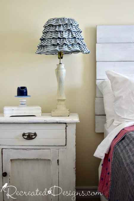 Antique quilt with a recreated salvaged lamp