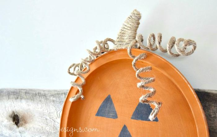 jute rope turned into pumpkin vines