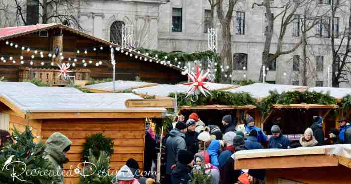 Old Quebec City Christmas Market.The German Christmas Market Quebec City Canada Recreated