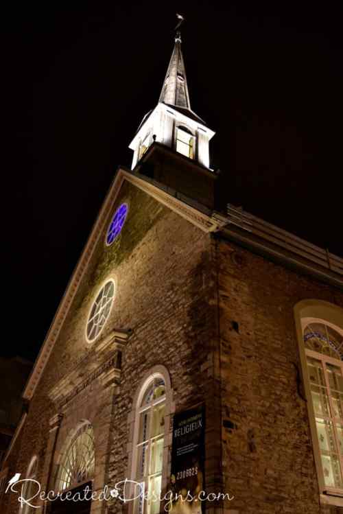 Centuries old church in Old Quebec City, Canada