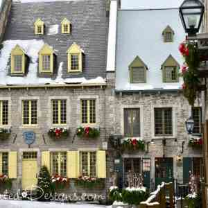Square in Lower Town Old Quebec City Canada