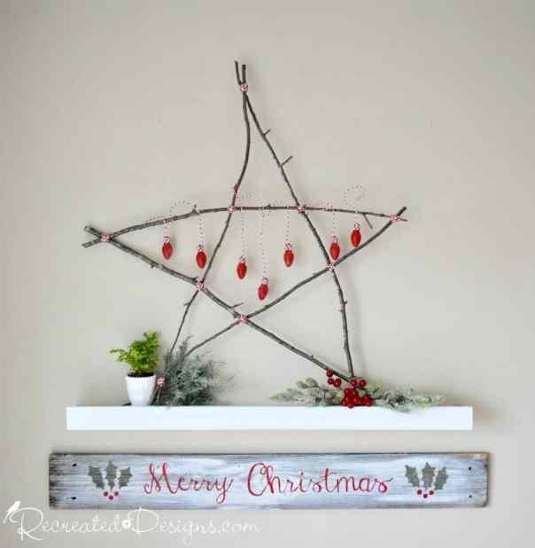 DIY twig Christmas star