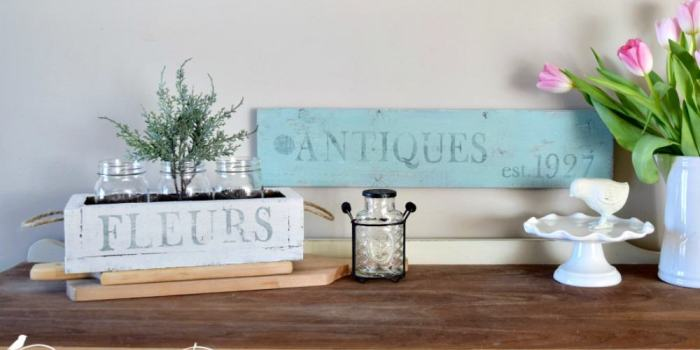 How to Make Rustic Home Decor with IOD Stamps