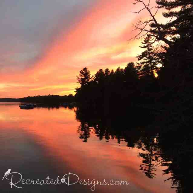sunset on Silver Lake Ontario