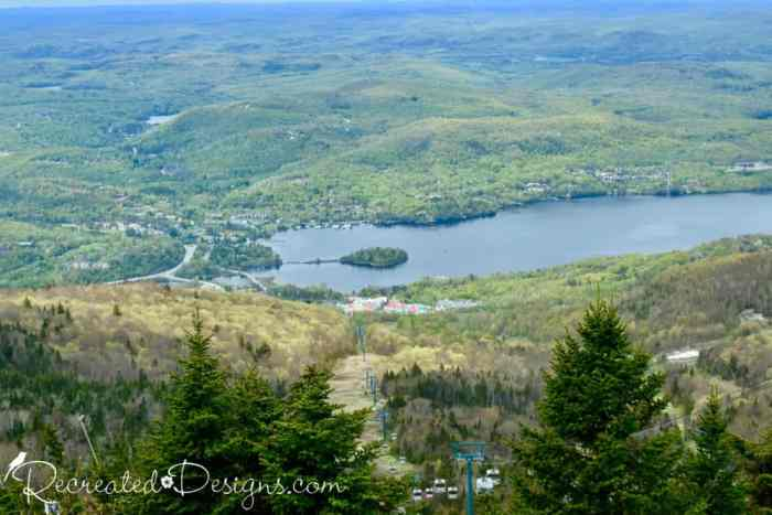 cable car up the mountain at Mont Tremblant, Quebec