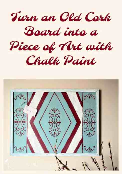 Turn an old cork board into Art with Recreated Designs