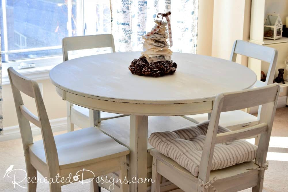 Using Milk Paint On Free Dining Room Chairs Recreated Designs