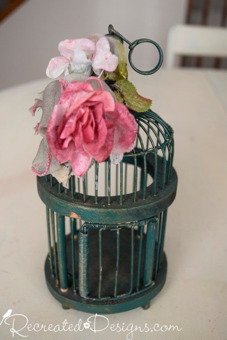 little green birdcage
