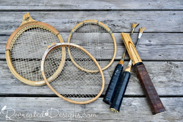 handles cut off of tennis and badminton rackets