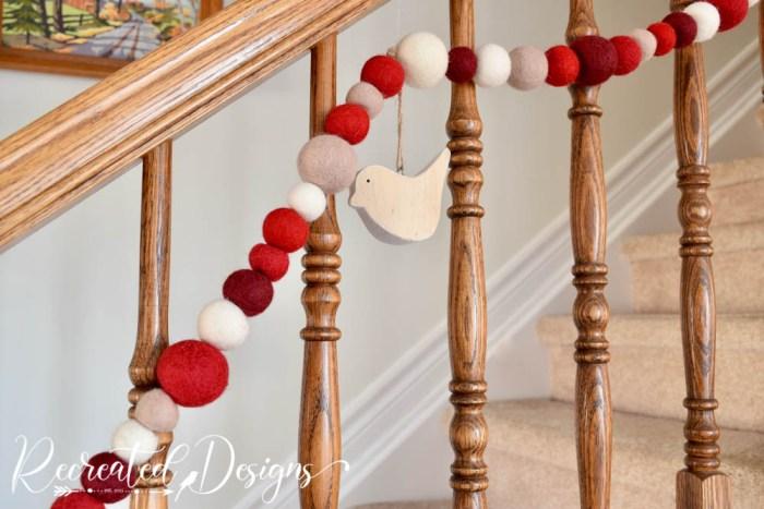 wool garland holiday decor