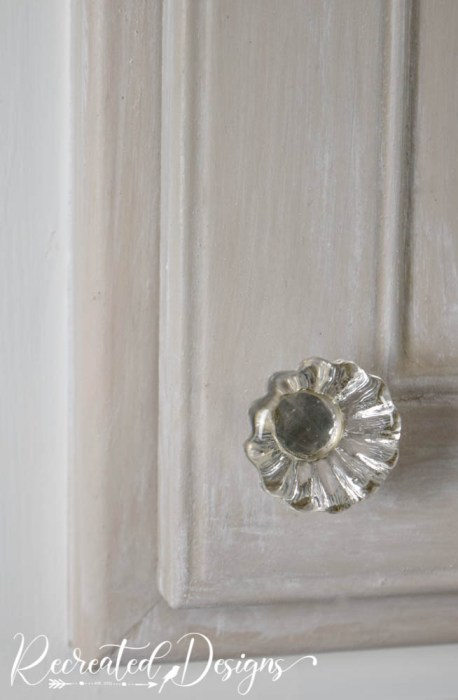 glass knob on cabinet door