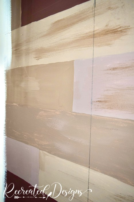 drawing line for first piece of wallpaper