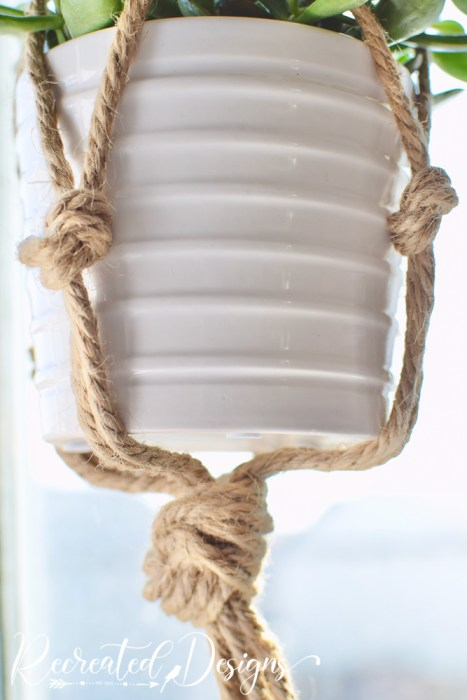 knotted jute twine