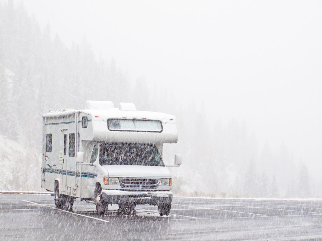 Winter RV Camping by Utah RV Dealership