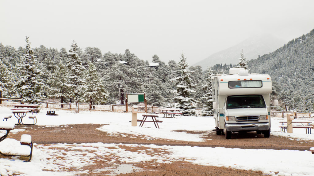 Winter RV Camping by Used RV Dealership in Utah