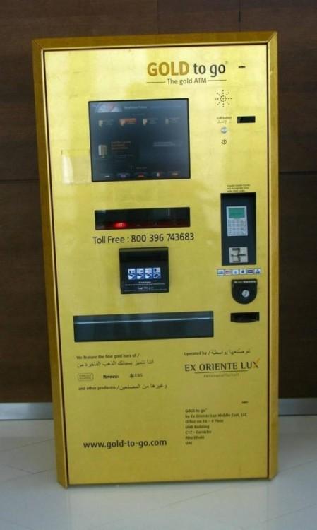 Cajeros de oro en Dubai