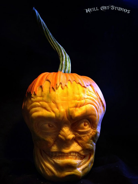 Calabazas Esculpidas Para Halloween De Manera Realista