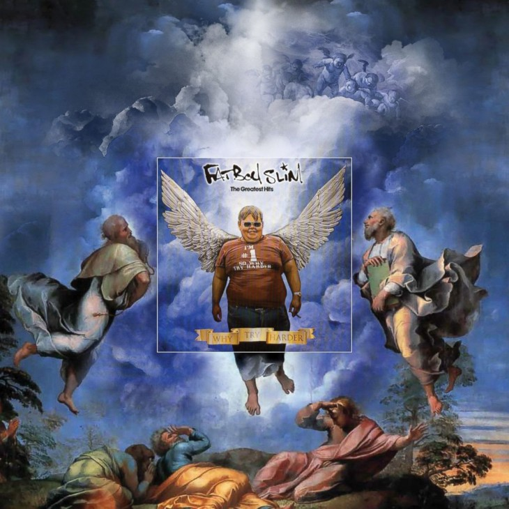 "Portada extendida del disco de Fatboy Slim ""Why try Harder"""