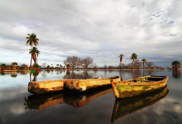 Lago Enriquillo en la República Dominicana