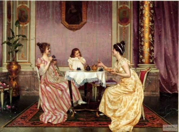 Mujeres de La edad media Comiendo Cubiertos pecado