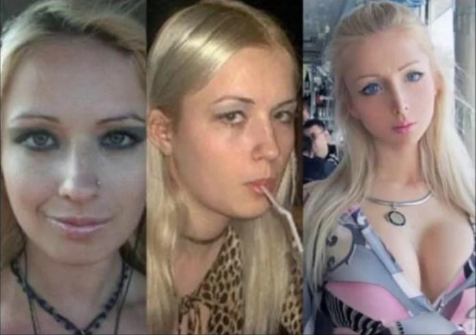 evolución de la cara de Valeria Lukyanova antes de convertirse en la 'barbie humana'