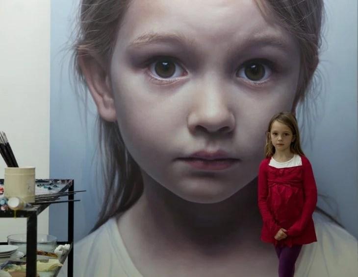 retrato hiperreal de niña