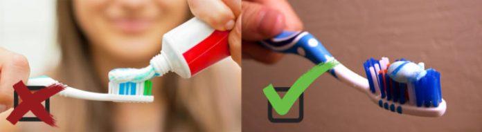 Uso correcto de la pasta de dientes