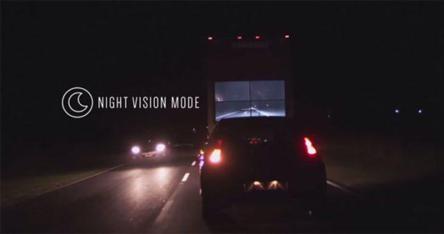 Camión samsung pantalla atrás visión nocturna