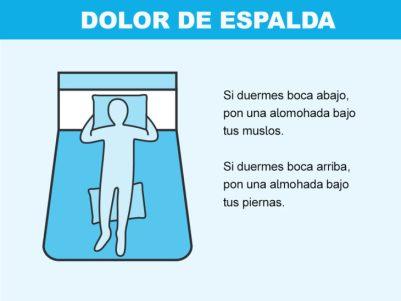 Cómo solucionar problemas en la cama - dolor espalda