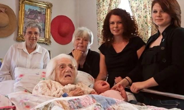 foto de seis generaciones juntas