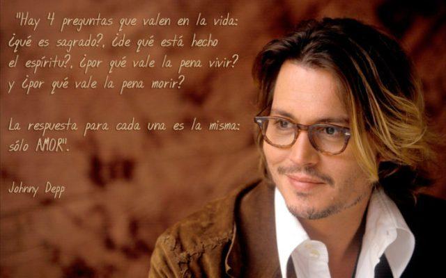 Frases Johnny Depp, cuatro preguntas