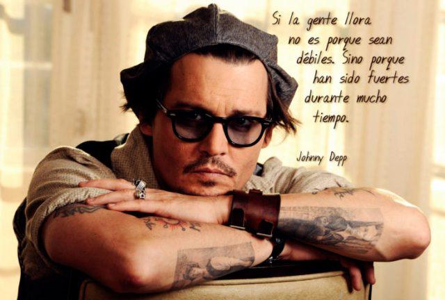 Frases Johnny Depp, llorar