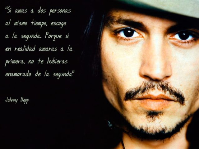 Frases Johnny Depp, amar a dos