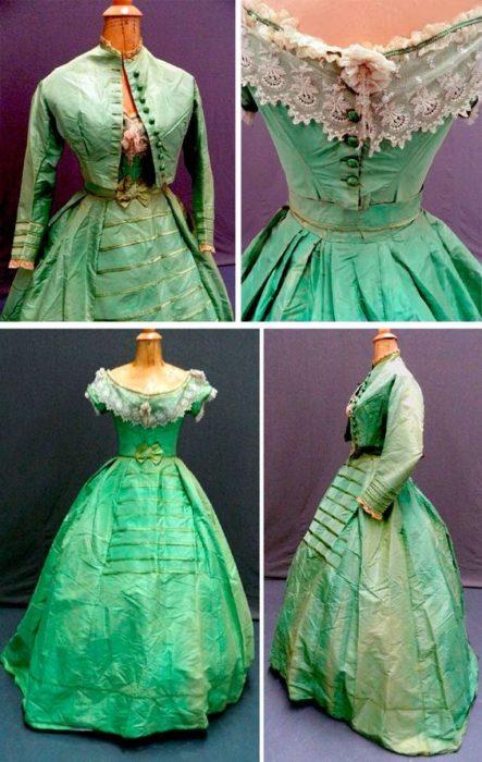 vestido verde teñido con arsénico