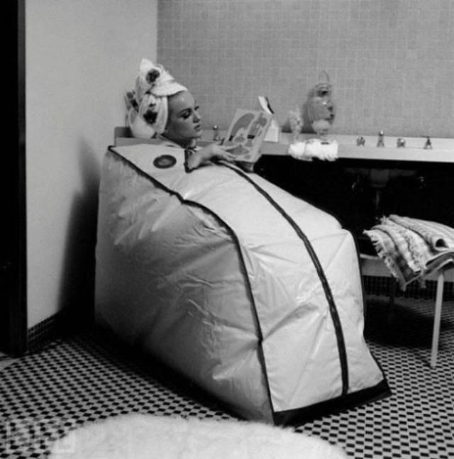 sauna portátil vintage objetos bizarros