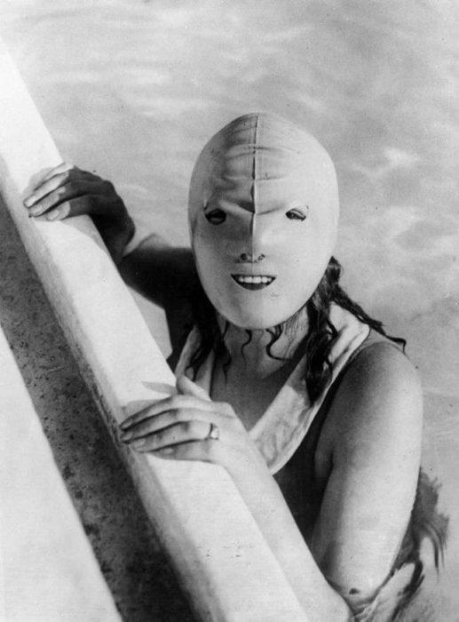 máscara para nadar vintage objetos bizarros