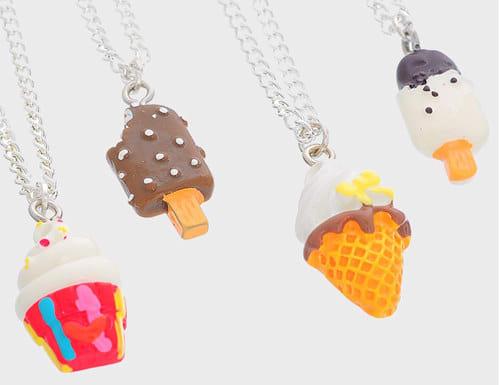 helados frutas collares Mejores amigas