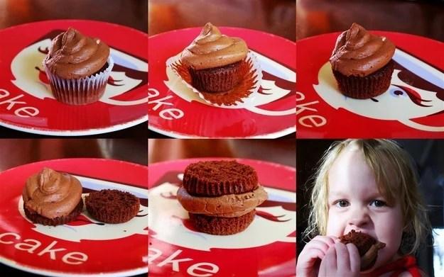 como comer cupcakes