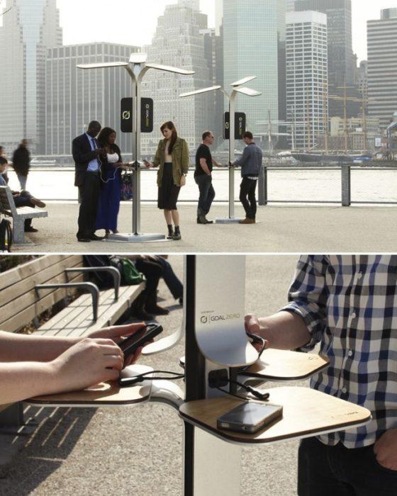 cargadores públicos smartphone