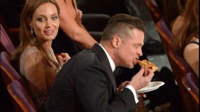 Famosos comiendo Brad Pitt