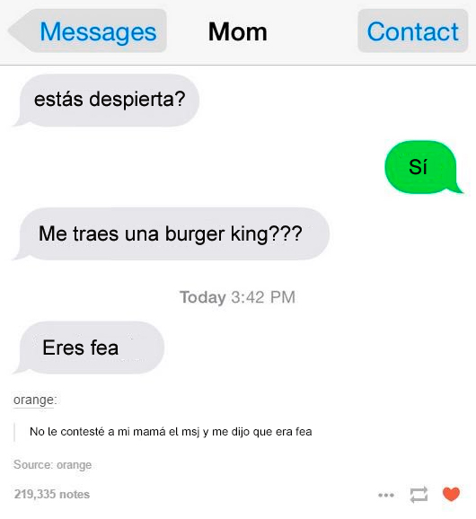 mama desea burger king