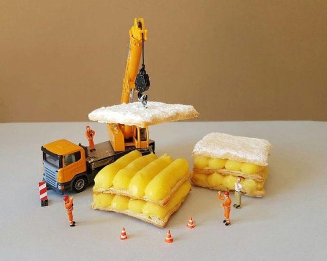 sándwich merengue postre miniatura italiano