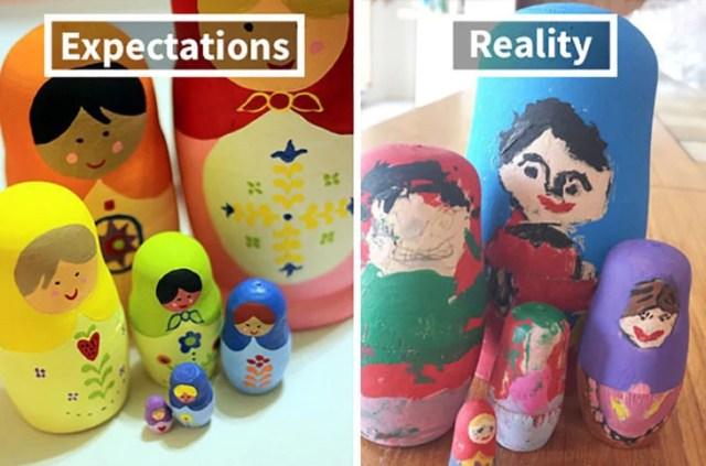muñequitas rusas expectativa vs realidad