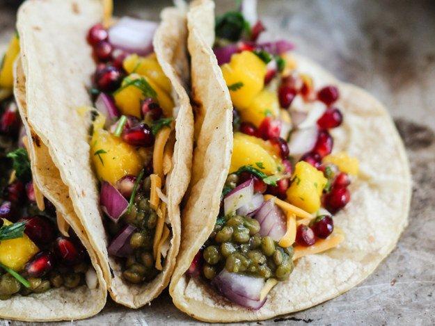 tacos lentejas veganas
