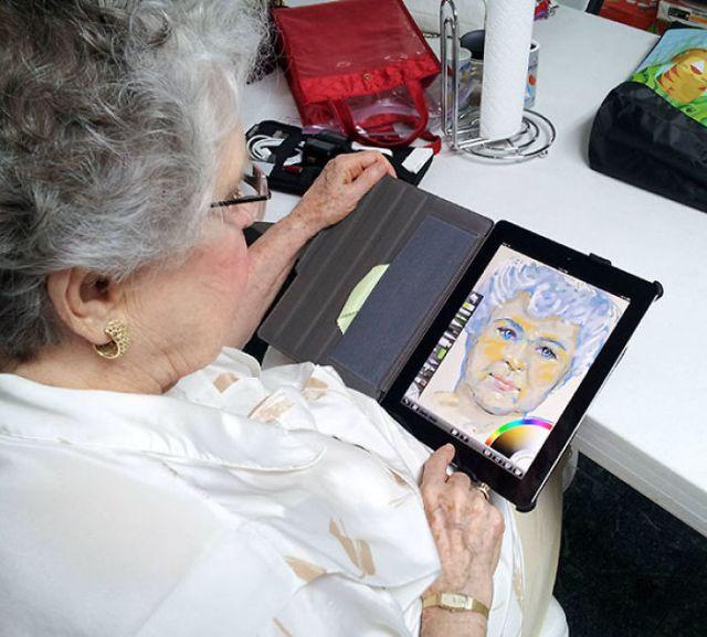 primera vez abuela tablet
